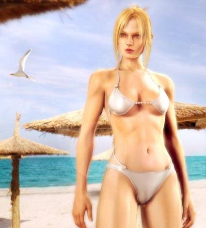Hottest nude girl in a video game final