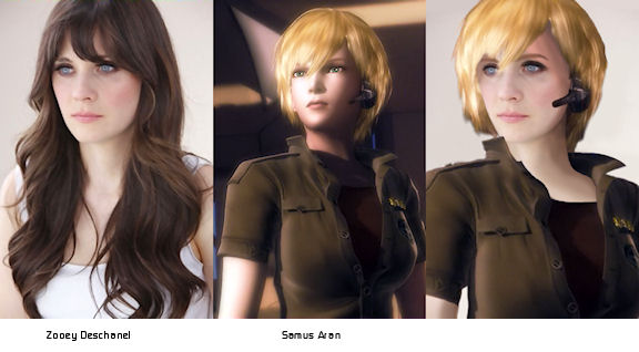Zooey Deschanel is Samus Aran