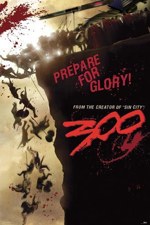 One of the first poster for the movie 300