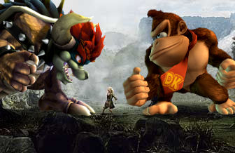 Donkey Kong and Giga Bowser in Peter Jackson's