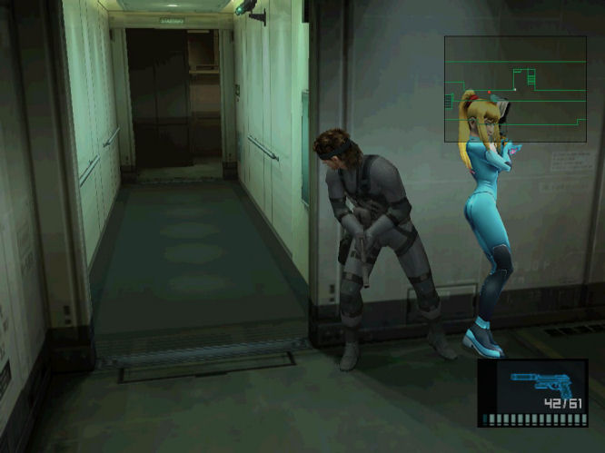 Samus in Metal Gear Solid 2